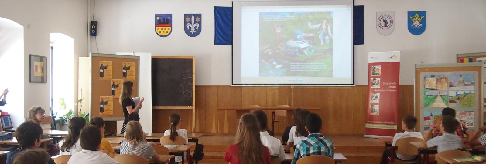 Unterricht in Brasov mit Piwi
